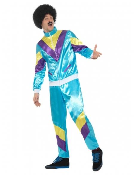 Déguisement survêtement de Sport Bleu Homme (veste, pantalon)